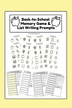 Back-to-School Memory Game and List Writing Prompts