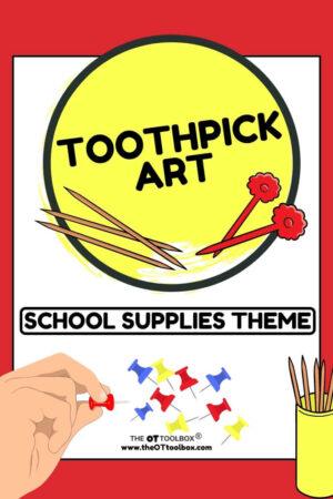 toothpick art school supplies