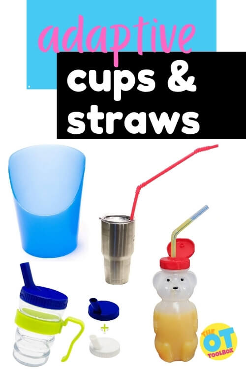 Adaptive cups and adaptive spoons for feeding needs