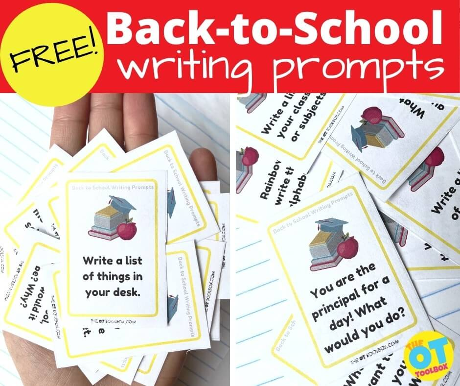 Print off these back to school writing prompts for a writing prompt of the day the first week of school.