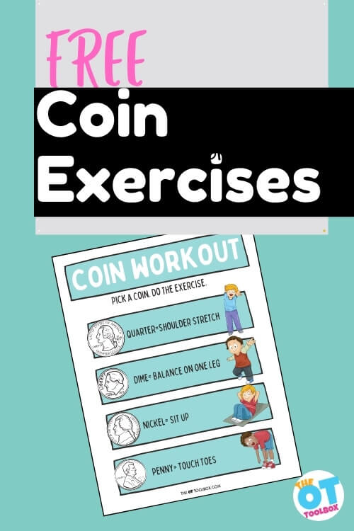 Free coin exercises or learning money with multisensory learning.