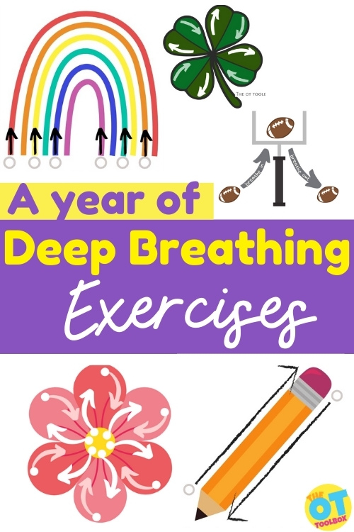 Deep breathing exercises for kids to use  for self-regulation, emotions, mindset, attention, and stress.