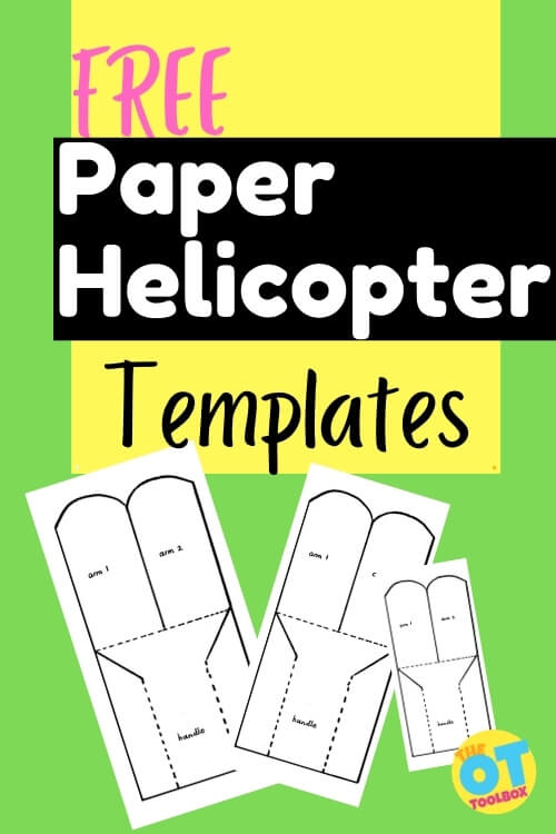 Paper helicopter template