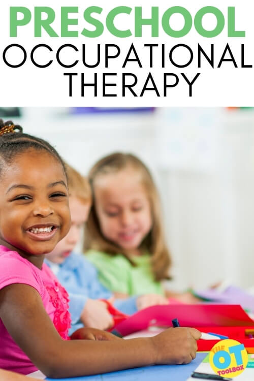 Preschool occupational therapy information, including what OT looks like in preschool settings, and early intervention occupational therapy