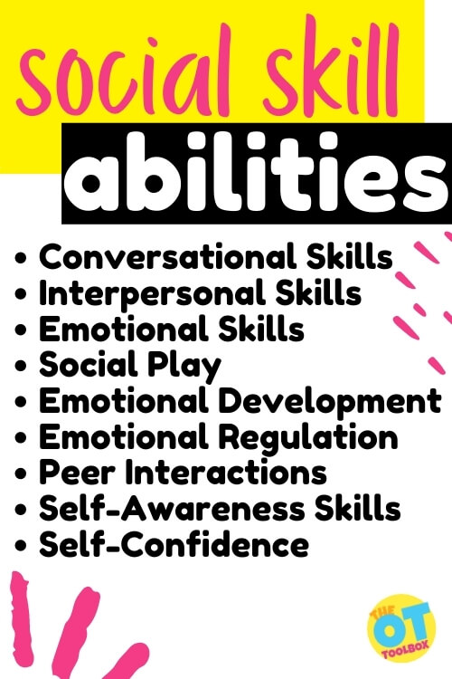 This social skills checklist breaks down social abilities and social development in kids.