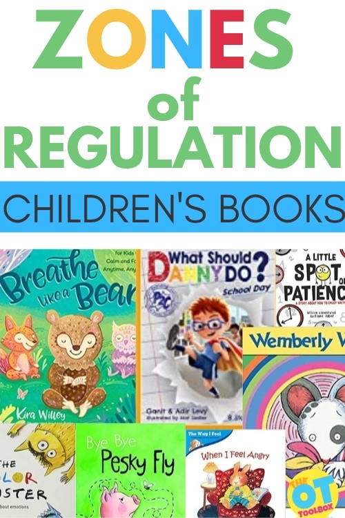 Children's books for Zones of Regulation and books that support self-regulation skills in kids.