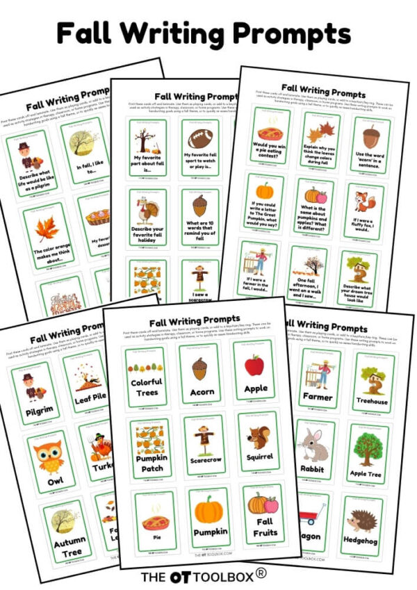 Fall writing prompt cards