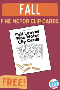 Fall fine motor worksheets