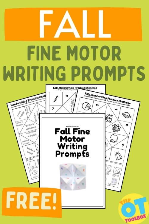Fall fine motor cootie catcher template