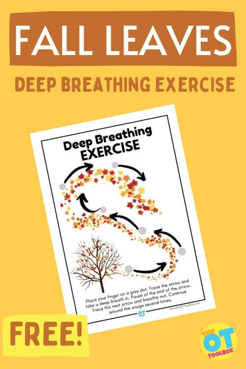 Fall leaves deep breathing exercise