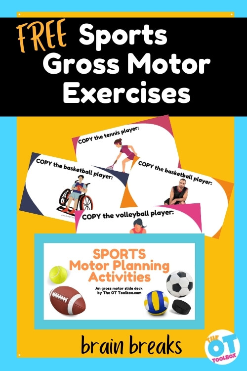 sports gross motor exercises and sports motor planning activities