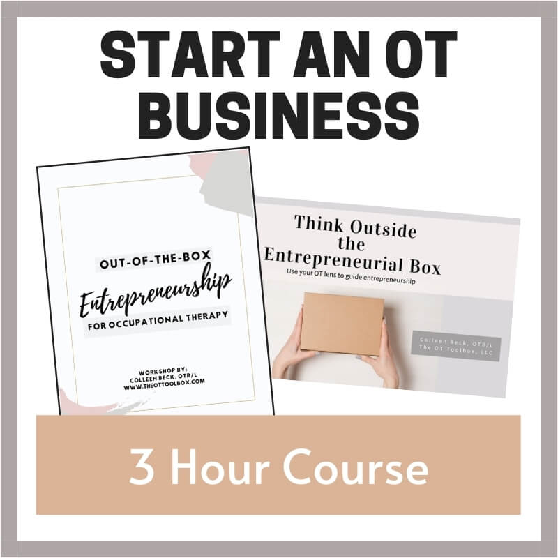 course for occupational therapists on how to start an OT business
