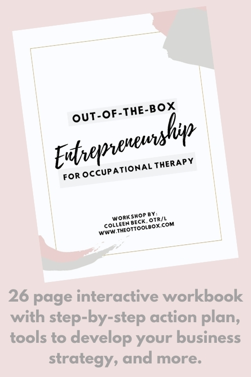 interactive workbook to think outside the entrepreneurial box and start an OT business