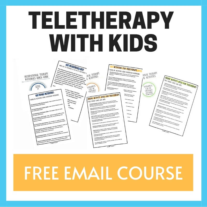 course on teletherapy with kids