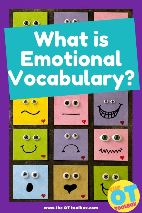 Emotional vocabulary, or emotional literacy is essential to a child's social emotional development.