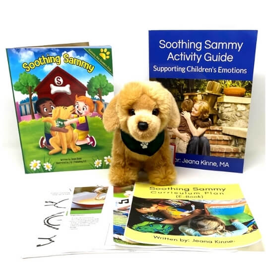 Use Soothing Sammy to teach emotions through play.