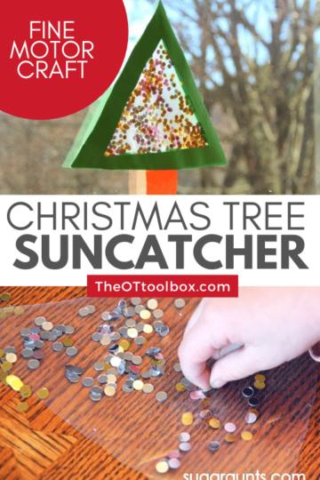 Christmas suncatcher craft
