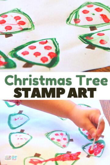 Gift tag Christmas tree art