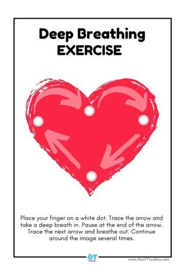 heart deep breathing exercise printable