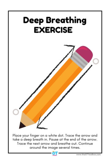 pencil theme deep breathing exercise