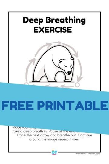 Polar bear theme deep breathing exercise for kids