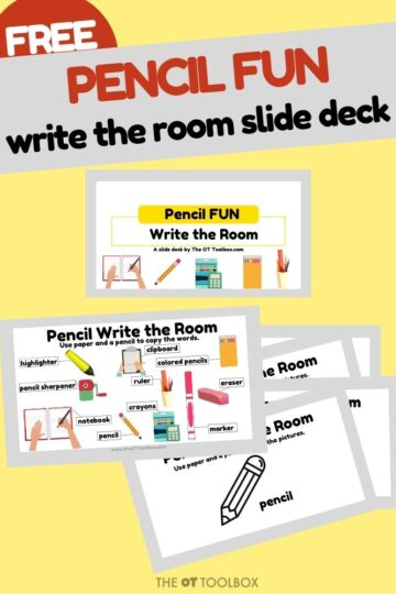 Write the room handwriting activity