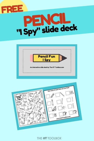 virtual I Spy game for teletherapy