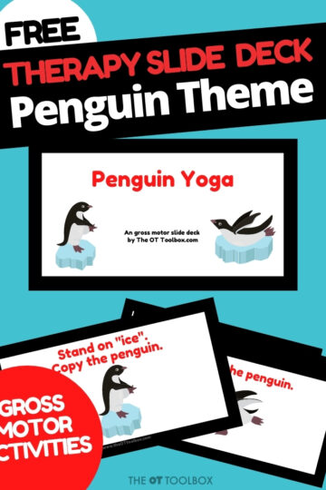 Penguin Yoga slide deck for teletherapy