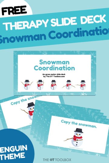 Snowman Bilateral Coordination Slide Deck