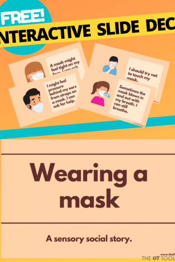 wear a mask social story for sensory issues
