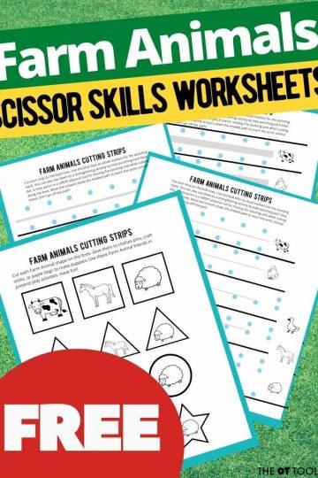 farm worksheets for kids