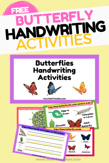 Butterfly writing activities