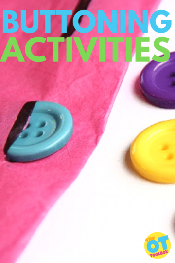 Buttoning activities for kids