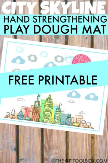 city play dough mat for kids