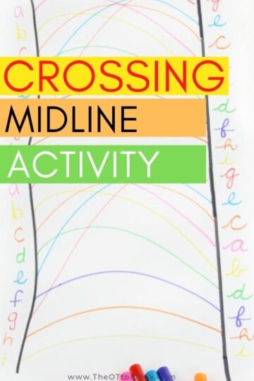 Crossing the midline letter activity