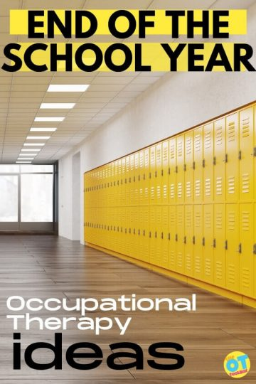 Occupational therapy activities for end of school year