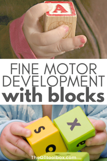 Fine motor development with blocks