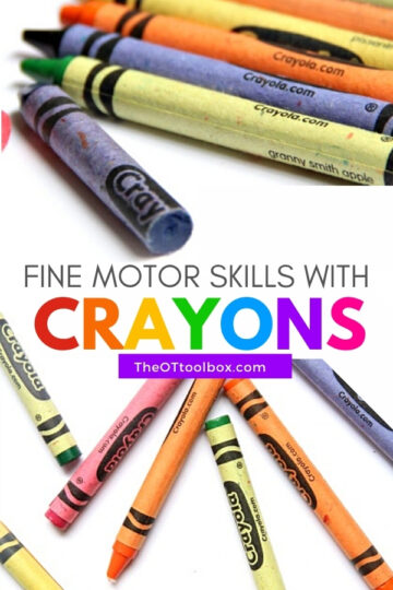 Fine motor skills with coloring