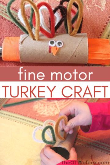 Turkey napkin ring craft