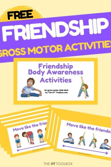 friendship skills for personal space and body awareness with a free therapy slide deck for teletherapy