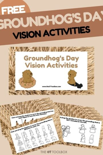 groundhogs day vision activities for vision therapy and occupational therapy