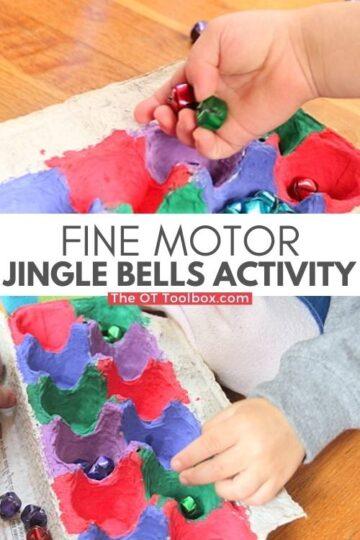 Jingle bell kids activity for fine motor skills