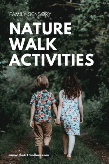 Nature walk activities for sensory nature experiences for the whole family