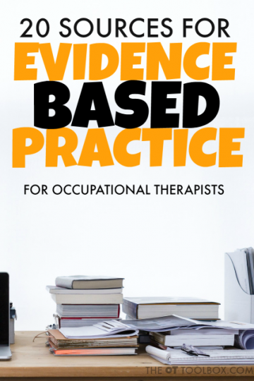 evidence based practice in occupational therapy