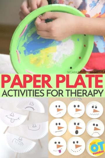 Paper plate activities and paper plate crafts for occupational therapy