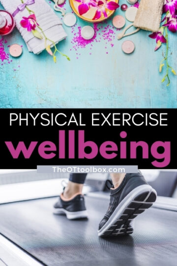 Physical exercise and wellbeing go hand in hand.