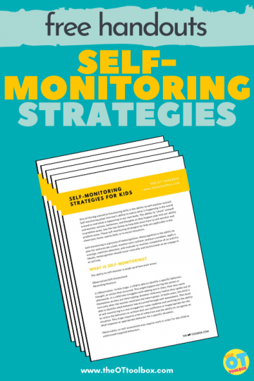 self-monitoring strategies handouts