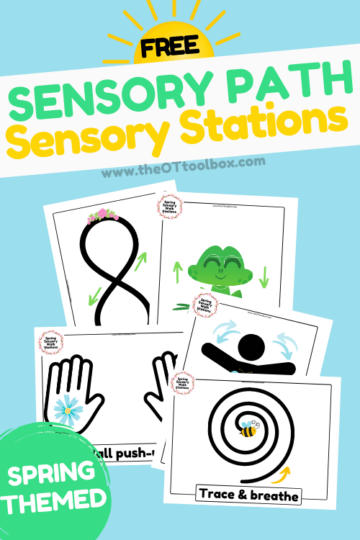 Sensory stations free printables