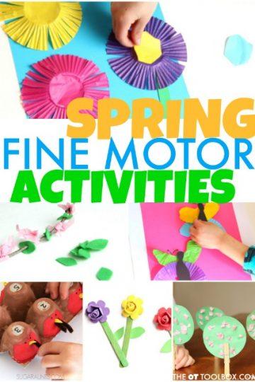 Spring fine motor activities
