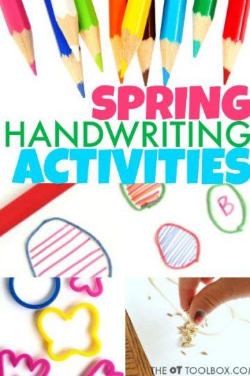 Spring handwriting activities